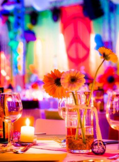 Witt Firmenevents: Bunte Tischdeko