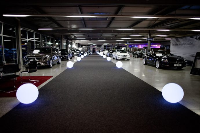 Witt Firmenevents mit LED Kugeln