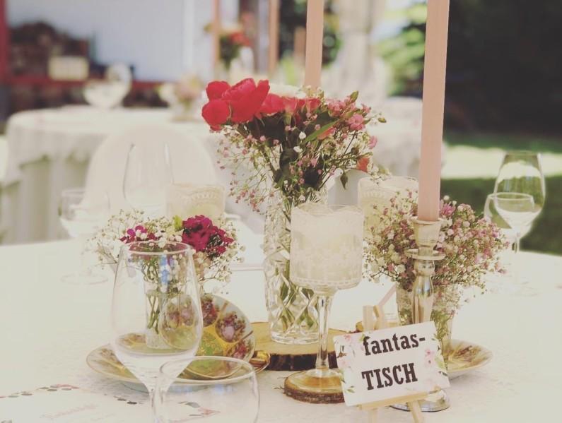 vintage Tischdeko Saarbrücken Hochzeit